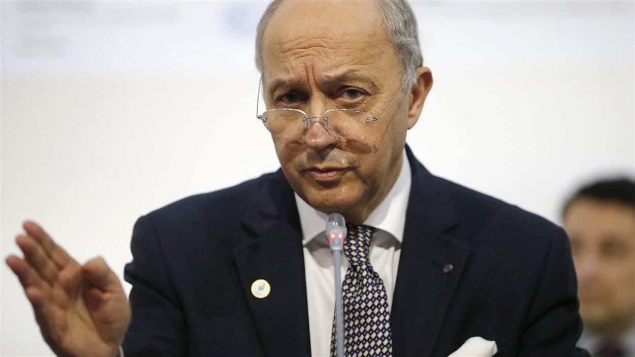 Le ministre français des Affaires étrangères, et président de la COP21, Laurent Fabius