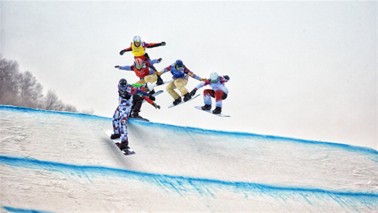 Le Canadien Kevin Hill à droite
