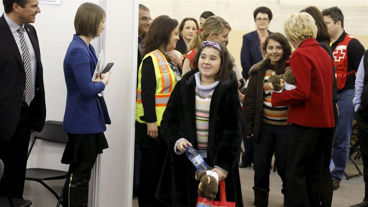 Vana, 11 ans, arrive au centre de bienvenue à Montréal le 12 décembre 2015.