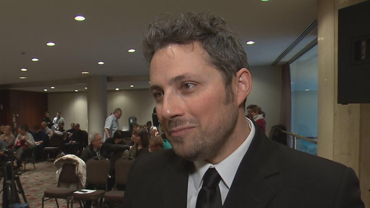 Benoît Cormier, président de l'Association des musiciens et musiciennes de l'Orchestre symphonique de Québec (AMMOSQ)