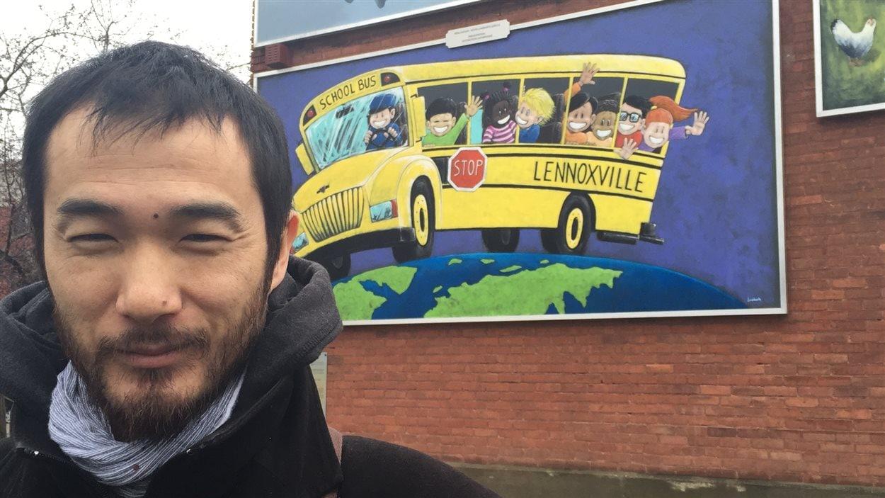 Kévin Lombarte, la créateur de la murale «School Bus»