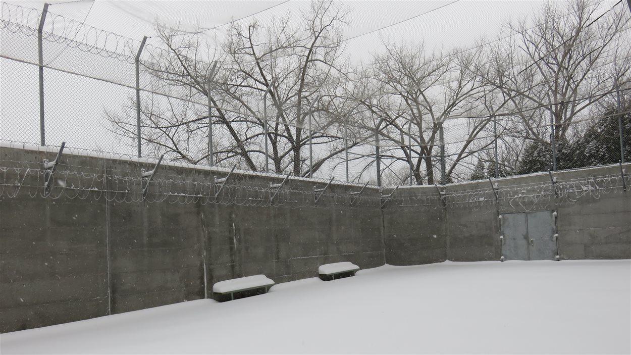 La cour extérieure de la prison de Chicoutimi