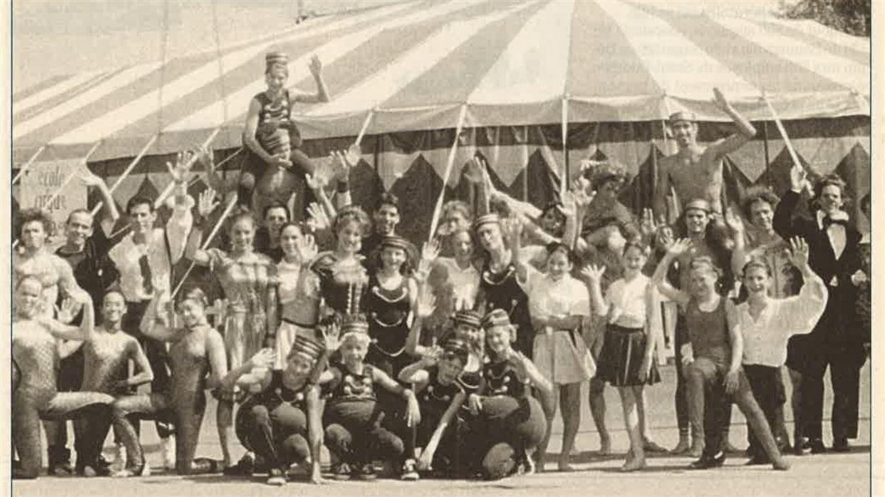 Les artistes de l'École de cirque de Québec en 1998