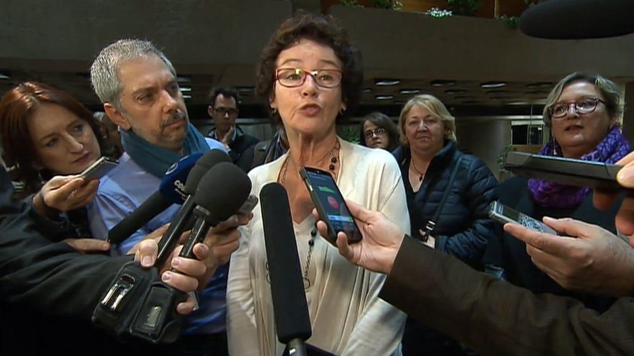 Louise Chabot, présidente de la CSQ, à Québec, le 17 décembre