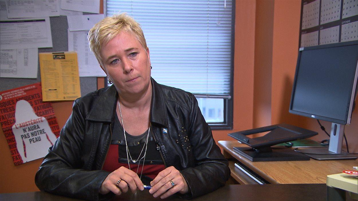 Nadine Lambert, vice-présidente responsable en soins infirmiers au syndicat du FSSS
