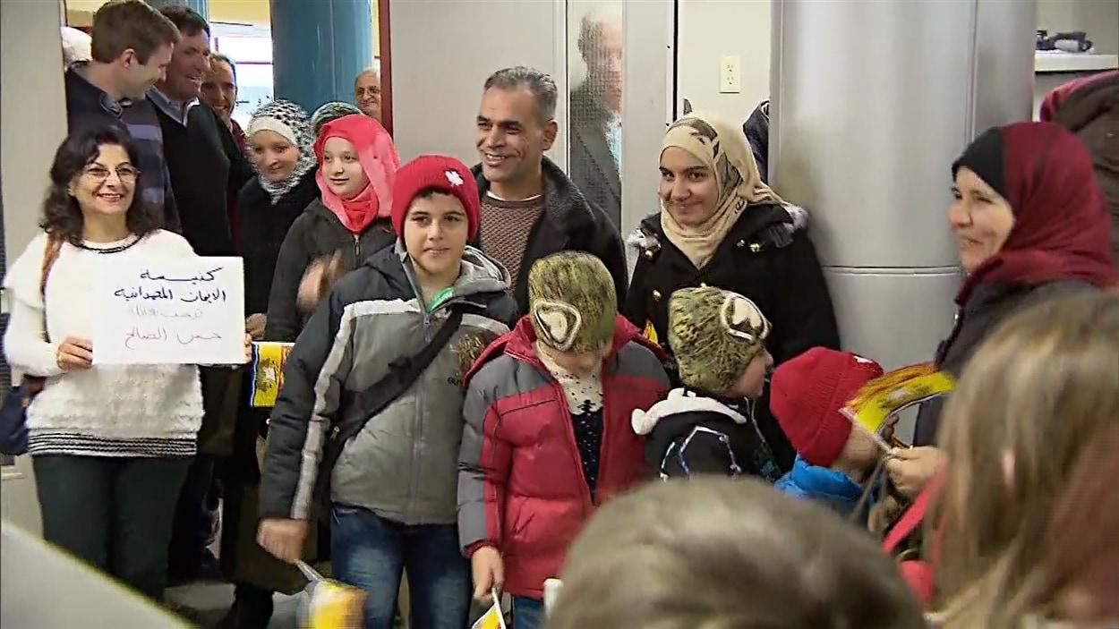 Des réfugiés syriens sont arrivés au Nouveau-Brunswick le 19 décembre 2015.