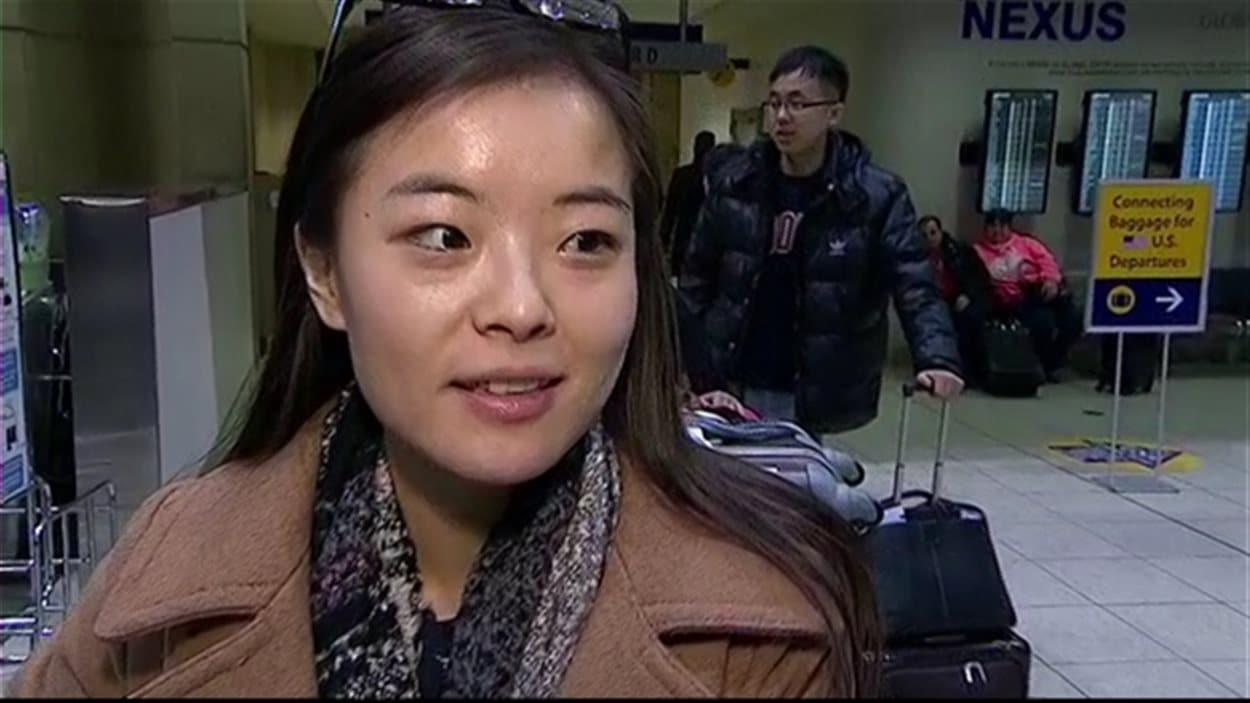 Bing Feng, une des passagères de l'avion