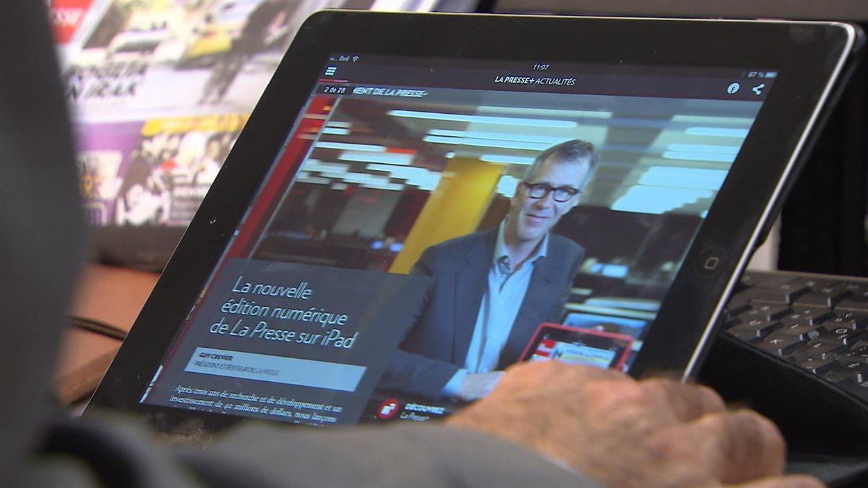 L'application tablette de La Presse