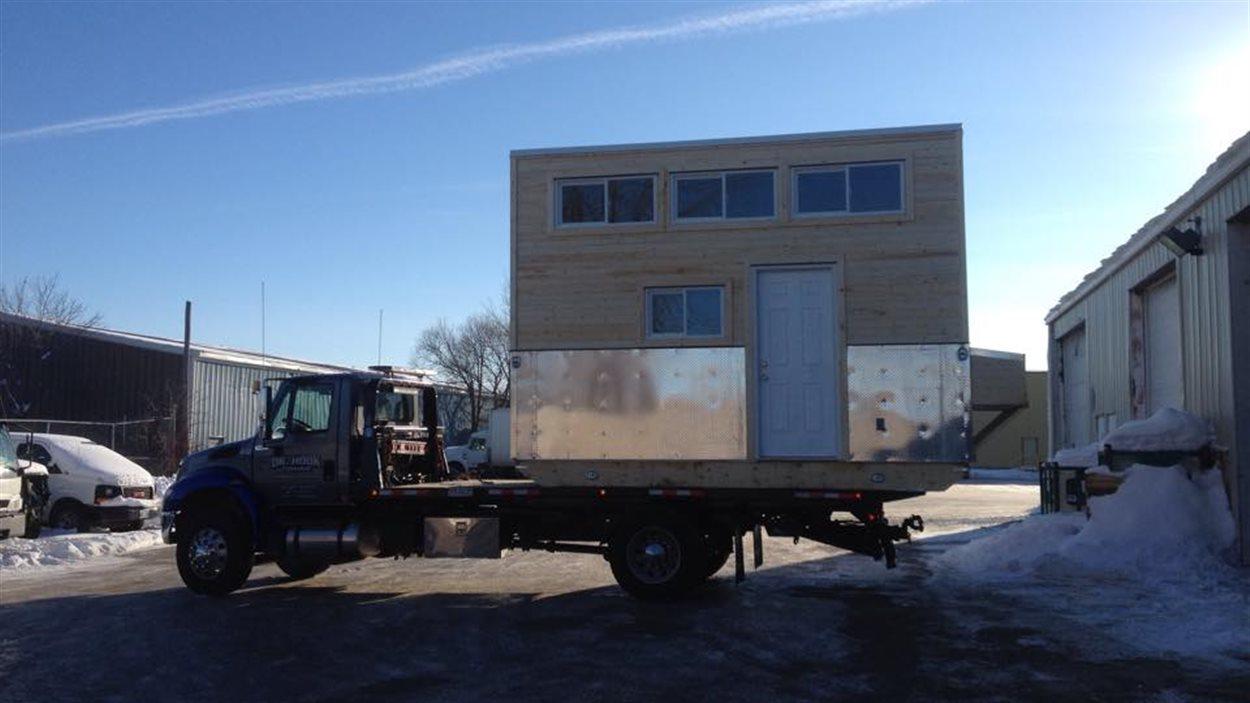 Cette mini-maison sera installée dans la Première Nation Big River, dans le nord de la Saskatchewan.