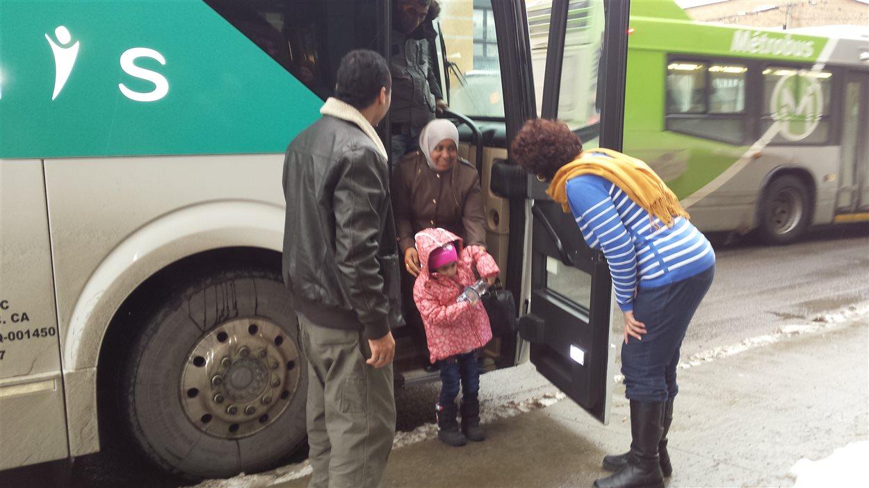 Réfugiés syriens arrivés à Québec.