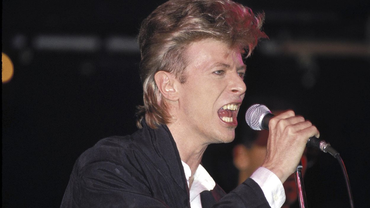David Bowie en concert à Sydney, en Australie, le 1er janvier 1987