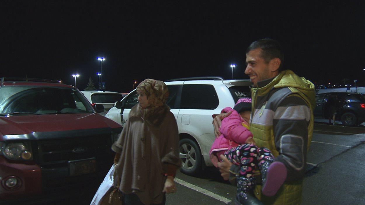 Une famille syrienne arrivée dimanche à Moncton
