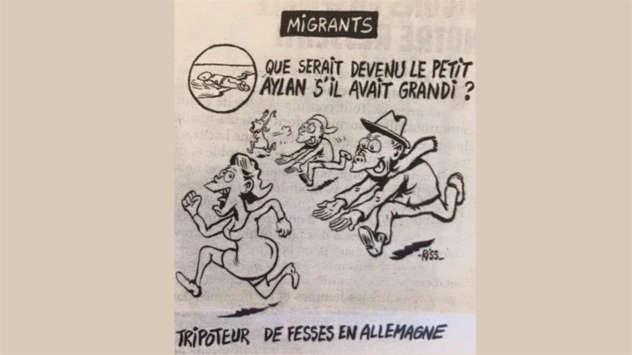Caricature controversée du dessinateur Riss de Charlie Hebdo.