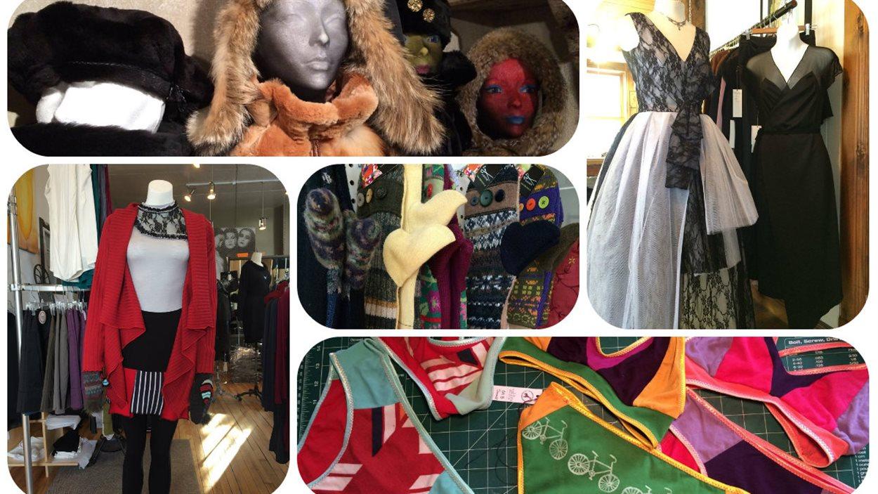 Créations de designers de mode gaspésiennes