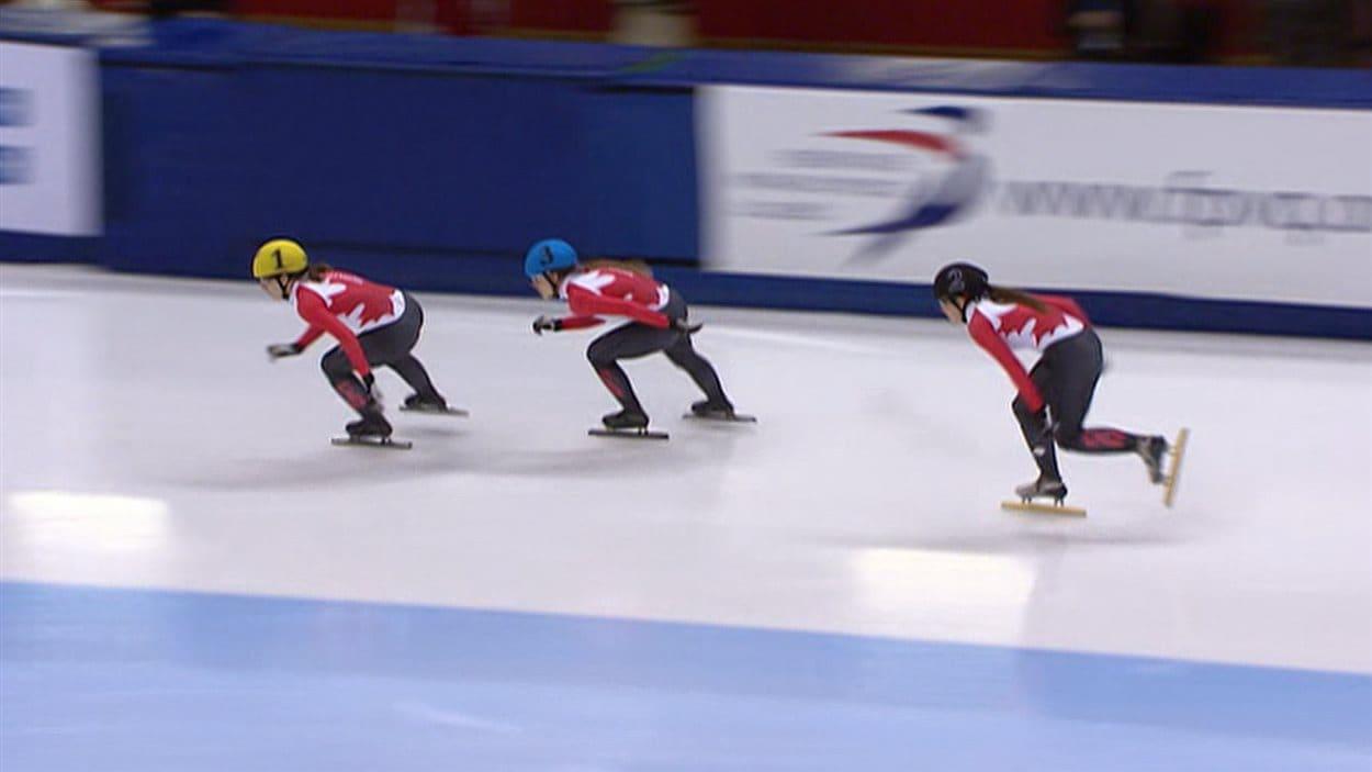 Les compétitions de patinage de vitesse courte piste se terminent dimanche.