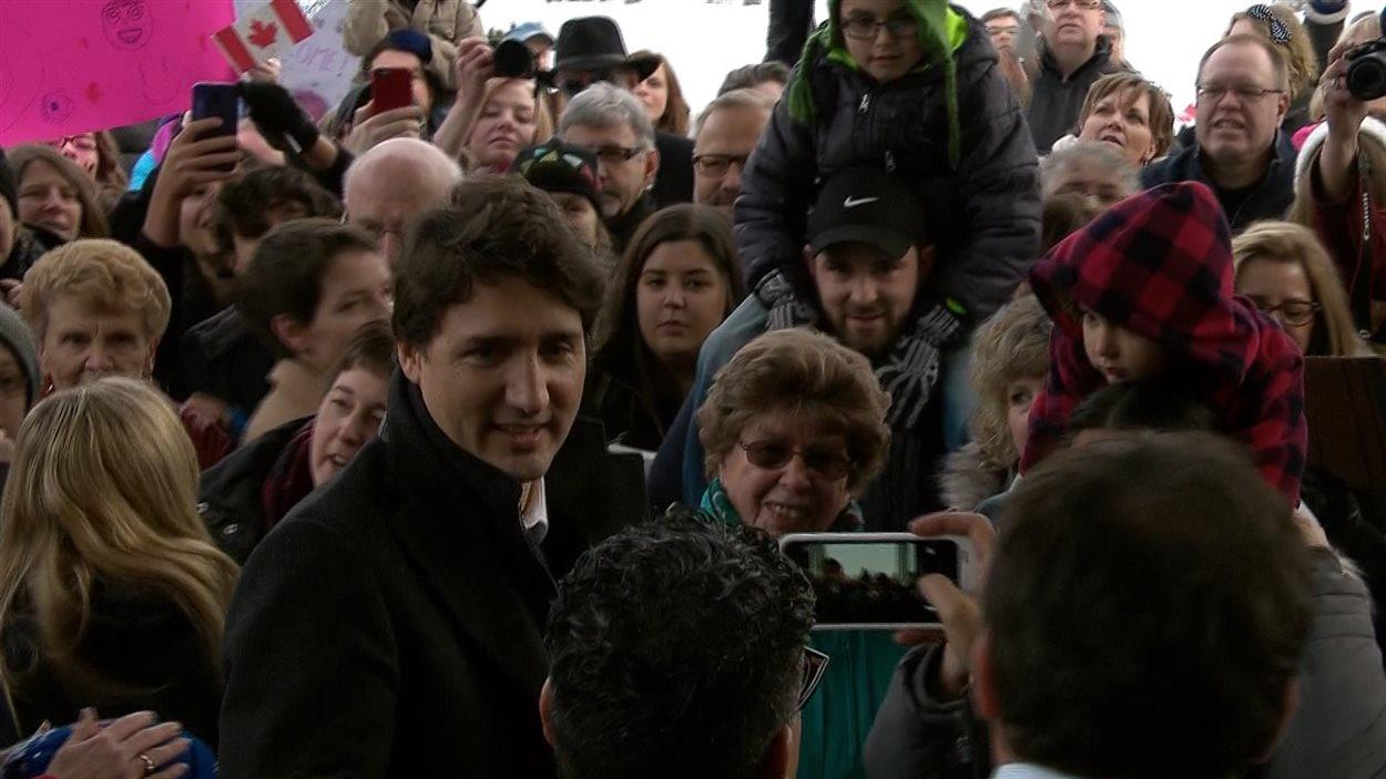 Justine Trudeau, à Peterborough, le 17 janvier