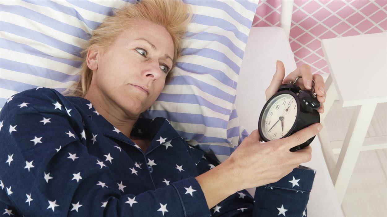 Une femme insomniaque