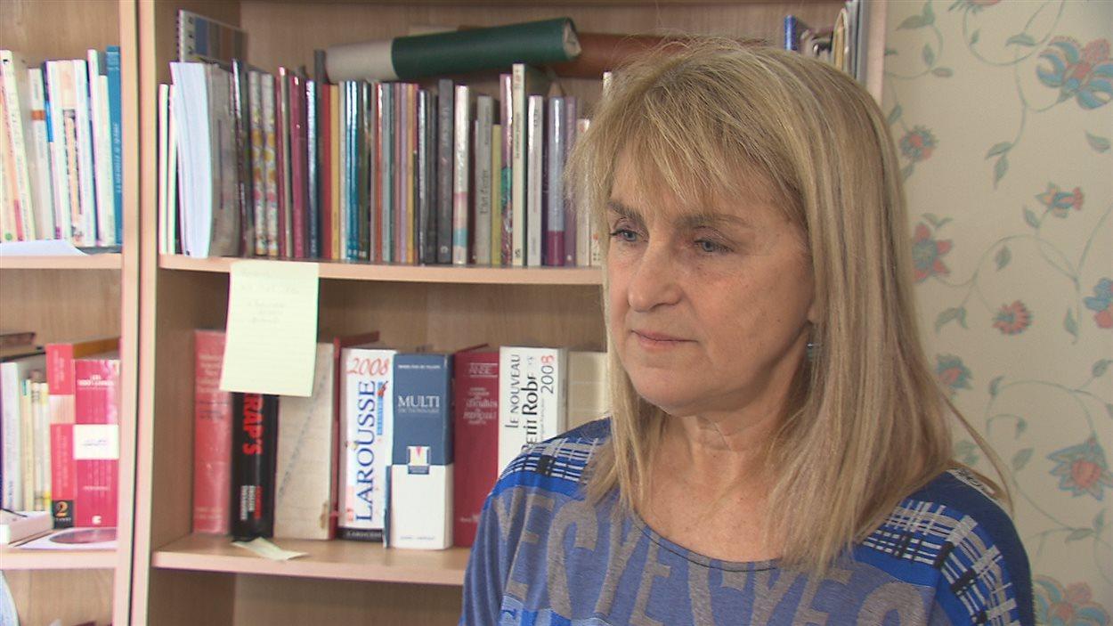 Anne-Brigitte Renaud, présidente du conseil d'administration du Salon du livre de l'Estrie