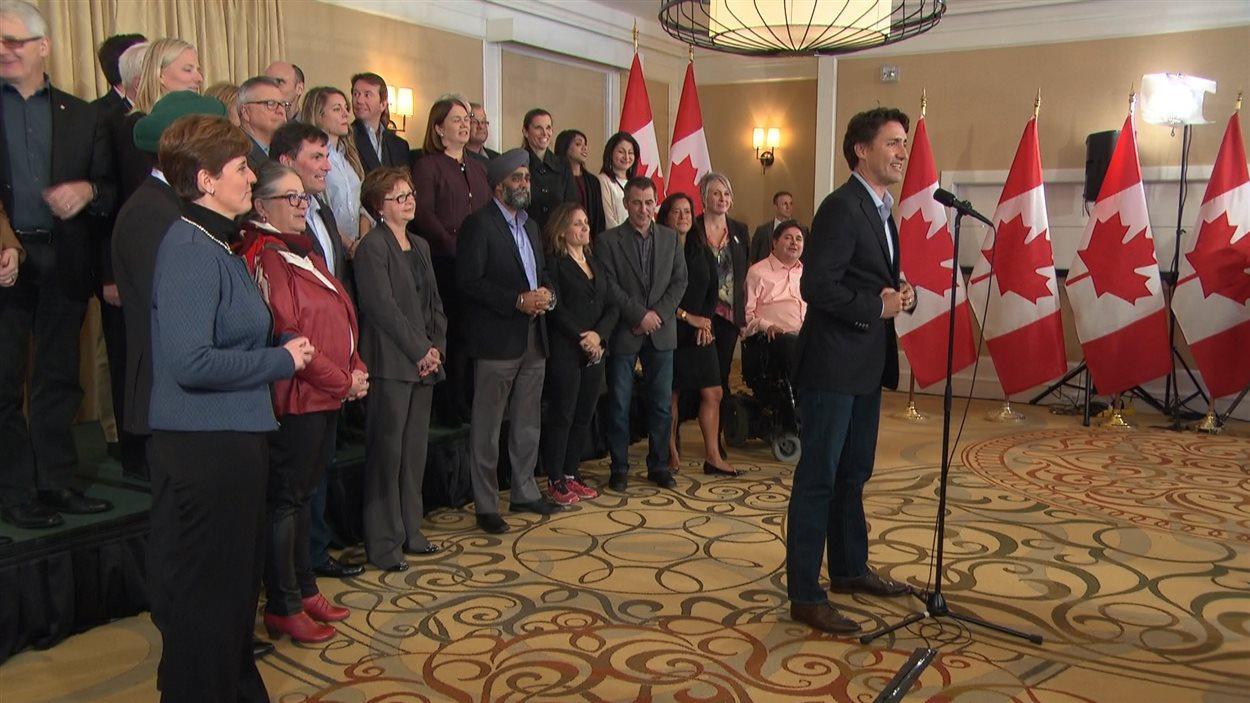 Justin Trudeau et son conseil des ministres à St. Andrews, au Nouveau-Brunswick