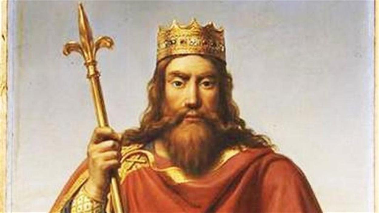 «Clovis roi des Francs» Peinture de François-Louis Dejuinne