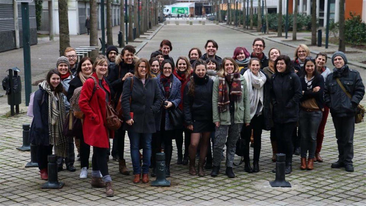 Les participants aux Rencontres des jeunes professionnels francophones du spectacle