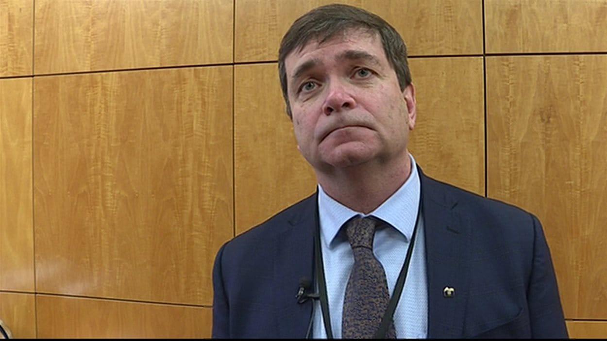 Oneil Carlier, ministre de l'agriculture de l'Alberta