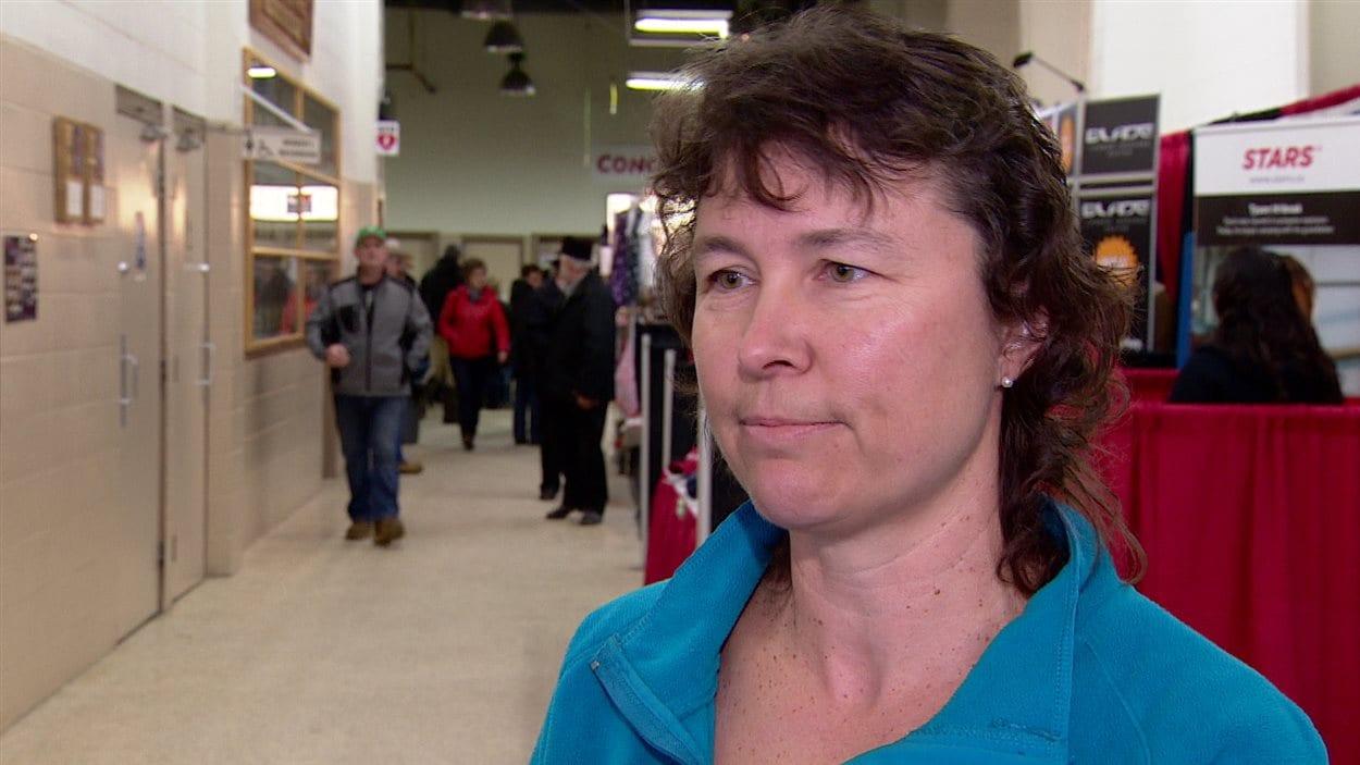 Shelley Dolter, agricultrice et militante contre le projet de loi 6, en Alberta.