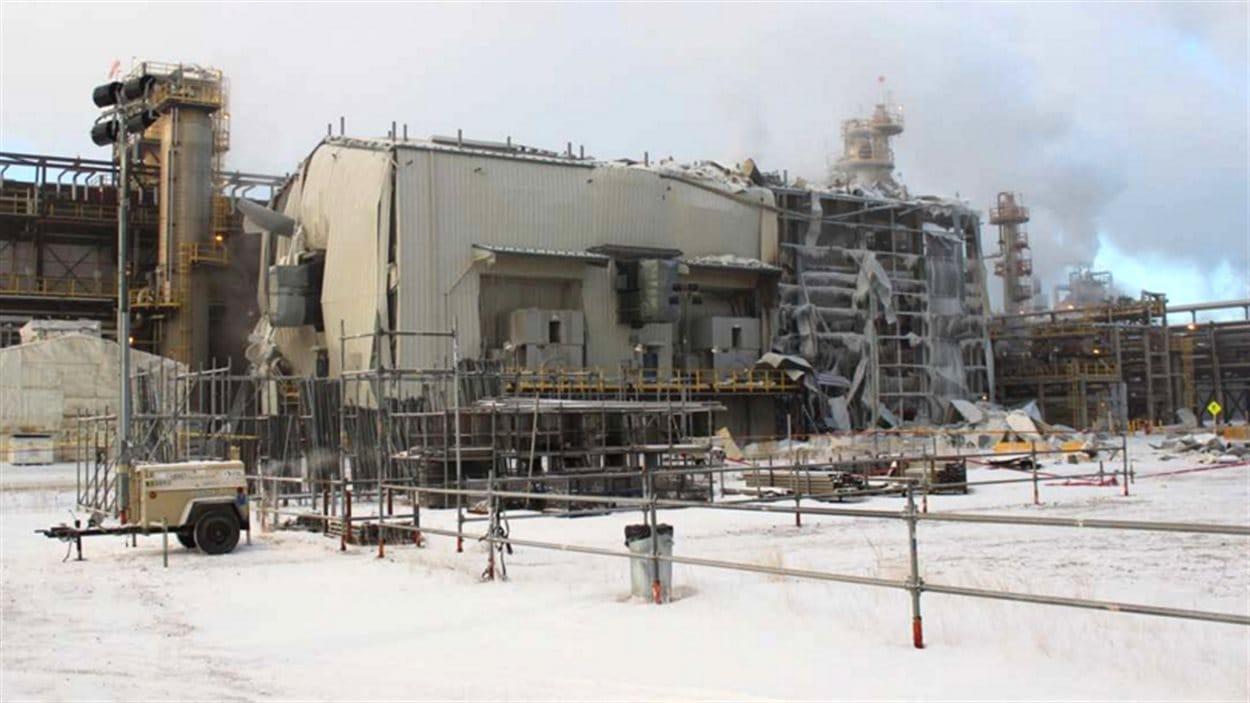 L'hydrocraqueur de l'usine de Nexen, à Long Lake, en Alberta.