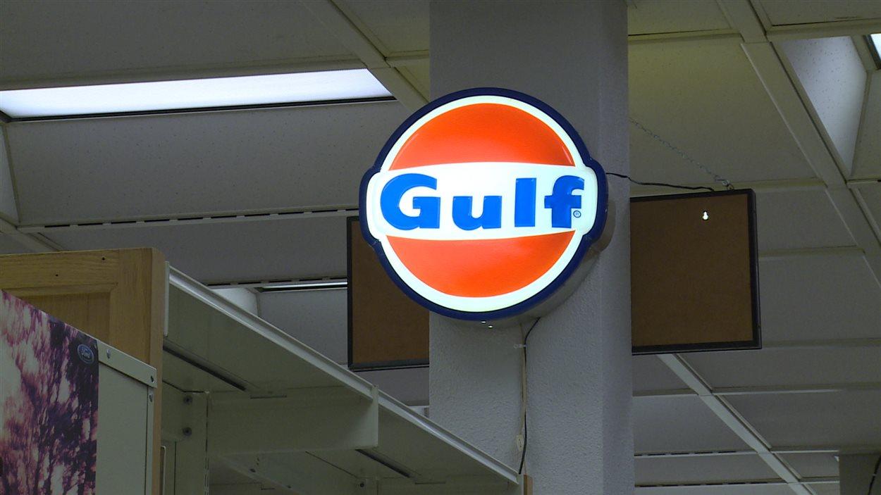 Une enseigne de la compagnie Gulf
