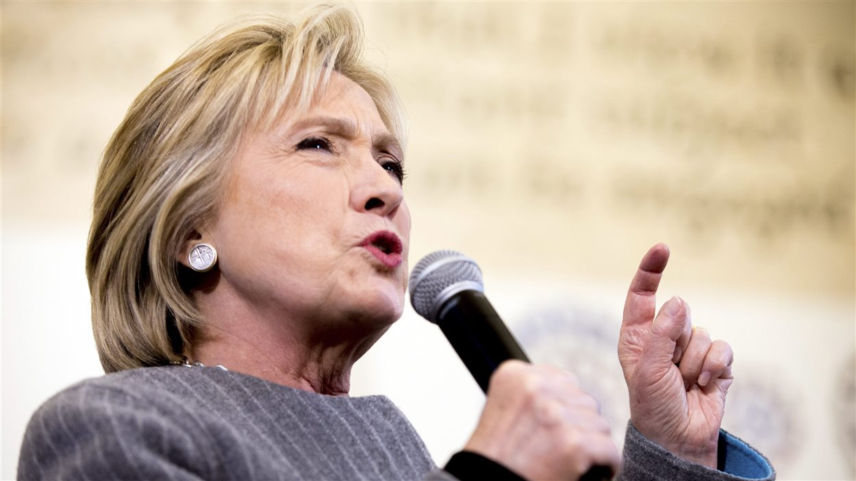 Hillary Clinton lors d'un rassemblement en Iowa le 31 janvier 2016