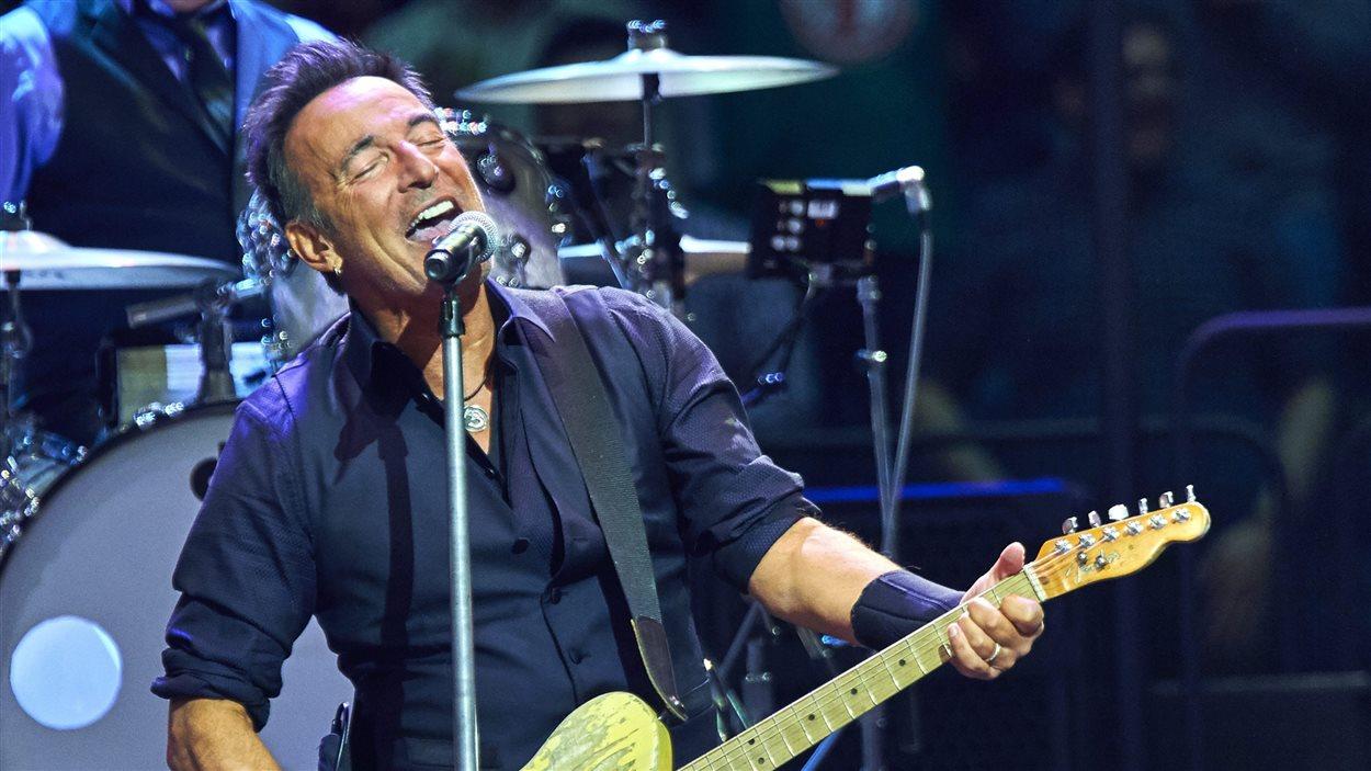 Bruce Springsteen en concert au Madison Square Garden à New York le 27 janvier 2016