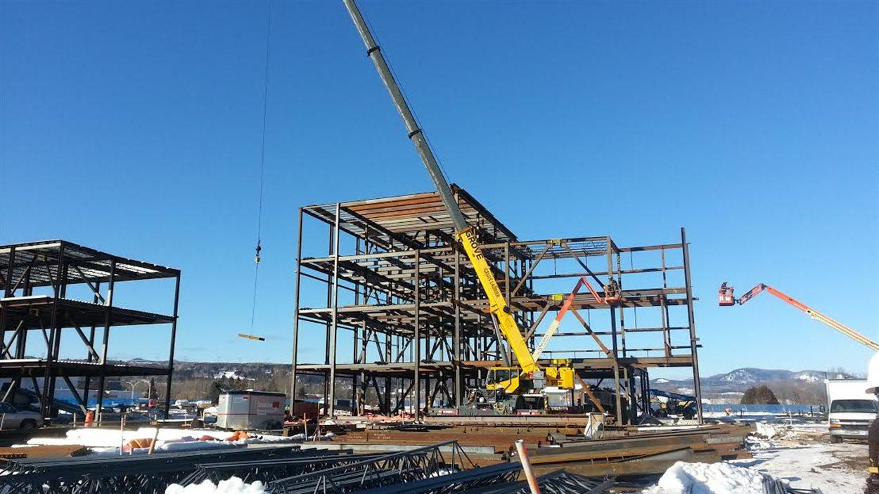 La construction du nouveau centre hospitalier de Baie-Saint-Paul devrait être complétée avant la fin de 2018.