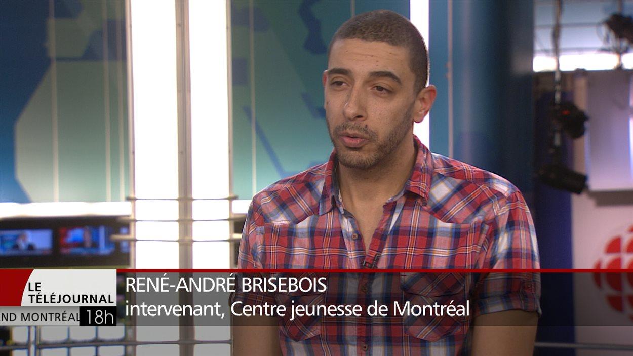 René-André Brisebois, intervenant au Centre jeunesse de Montréal