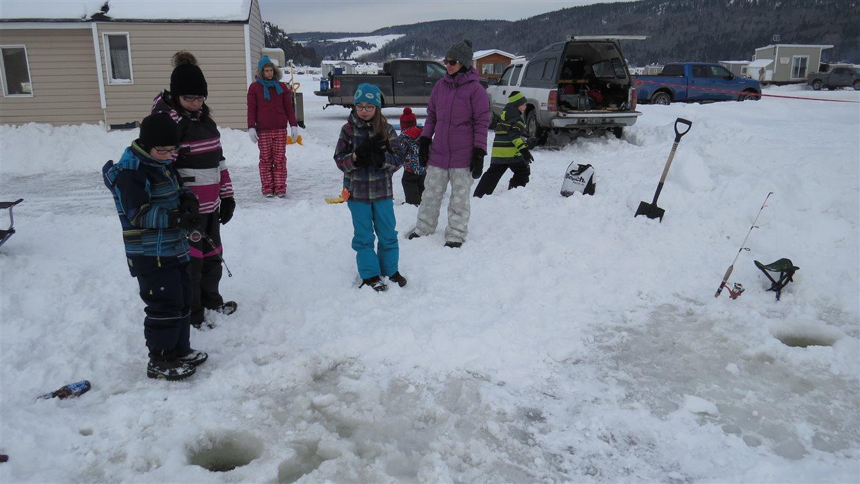 Les enfants de Valérie Parent adorent la pêche blanche.