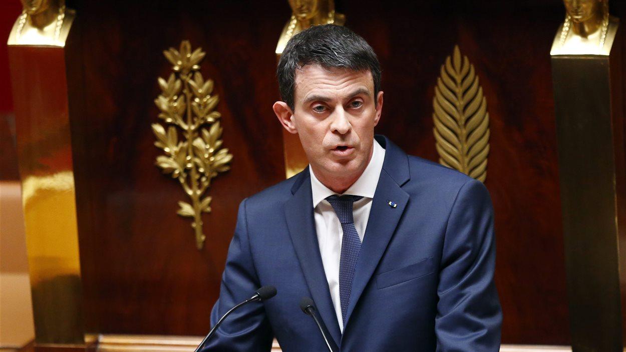 Le ministre français Manuel Valls à l'Assemblée nationale à Paris
