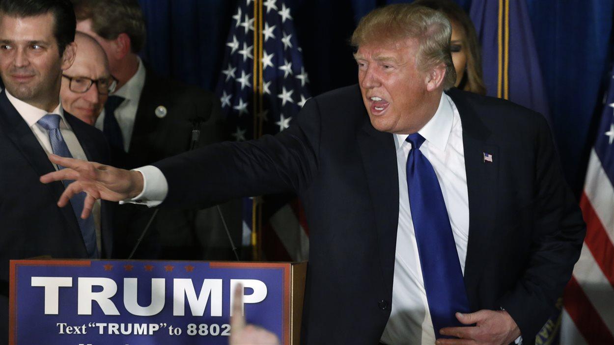 Donald Trump à Manchester, au New Hampshire, le 9 février 2016.
