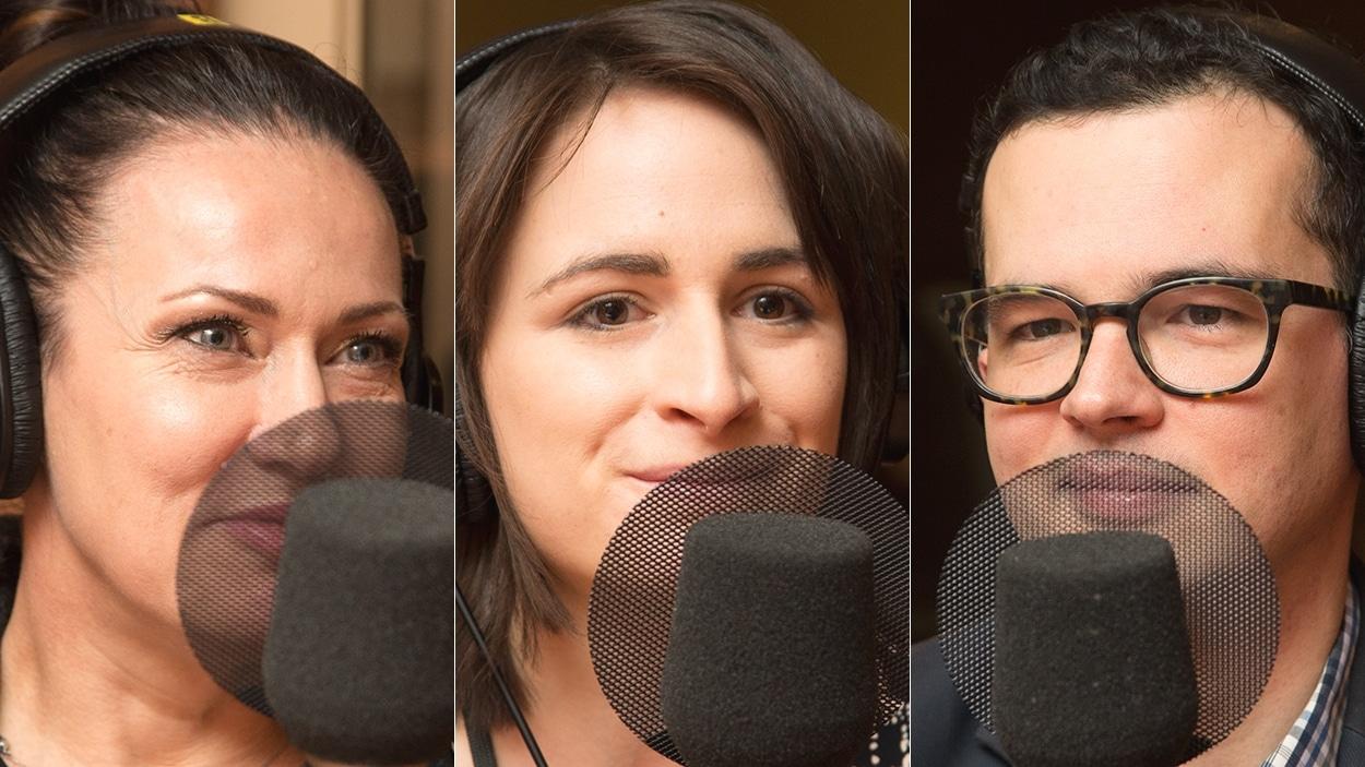 Sonia Duguay, Audrée Archambault et Matthieu Stréliski