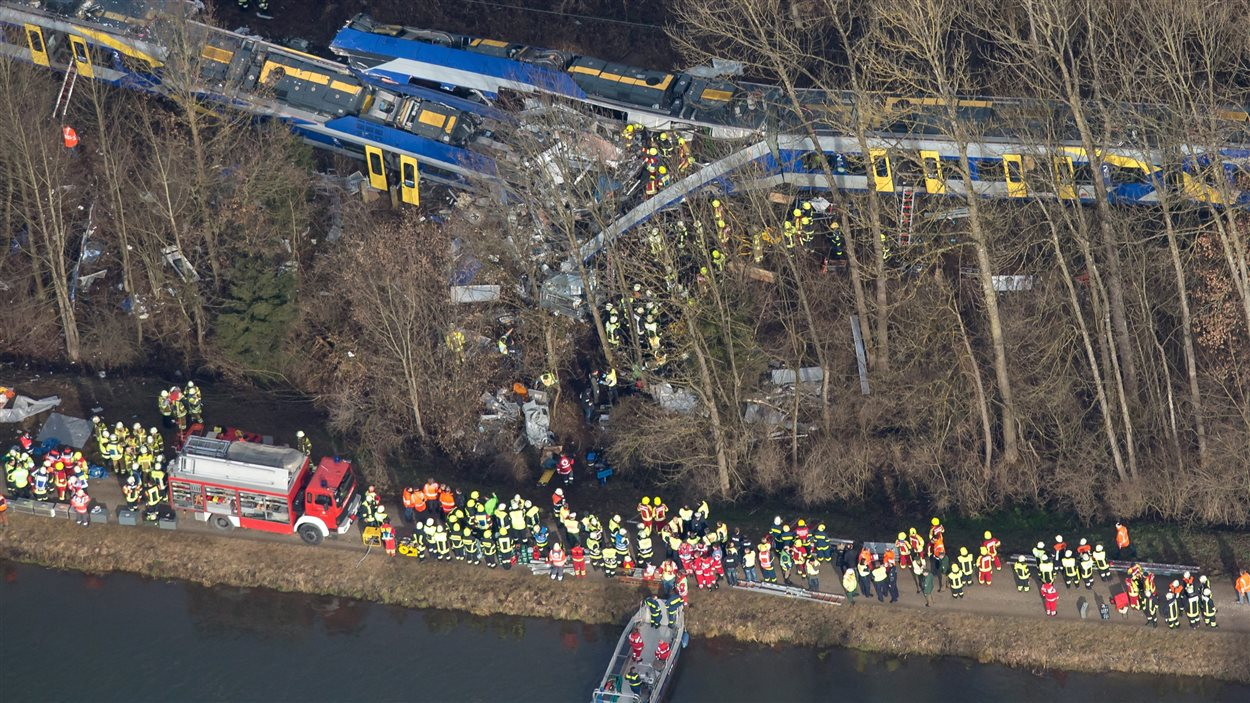 L'accident de trains est survenu dans un secteur difficile d'accès, en Bavière, dans le sud de l'Allemagne.