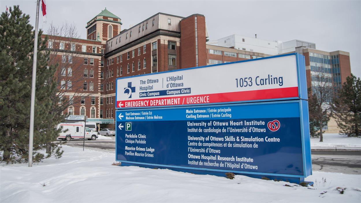 Le campus Civic de l'Hôpital d'Ottawa est situé sur l'avenue Carling.
