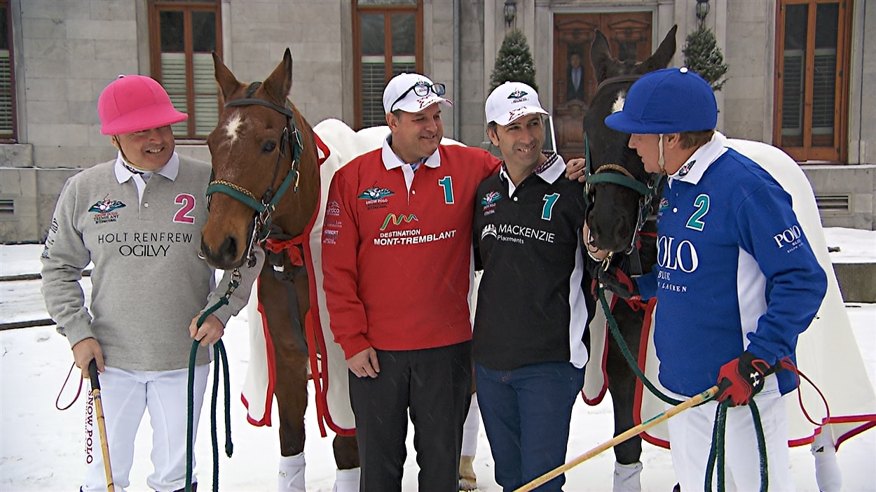 Les chandails des joueurs des équipes de Polo sur neige Tremblant International 2016