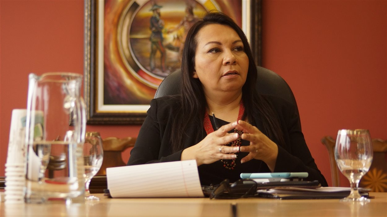 Sheila North Wilson, grande chef des Premières Nations du Manitoba Keewatinowi Okimakanak (MKO).