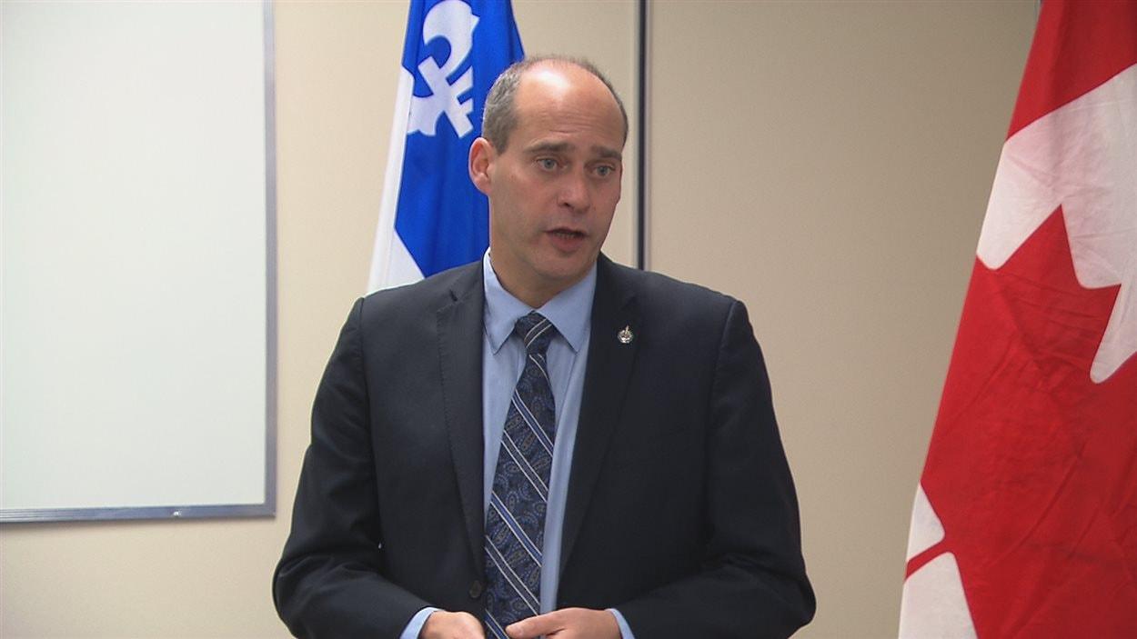 Le député de Rimouski-Neigette-Téimscouata-Les Basques Guy Caron
