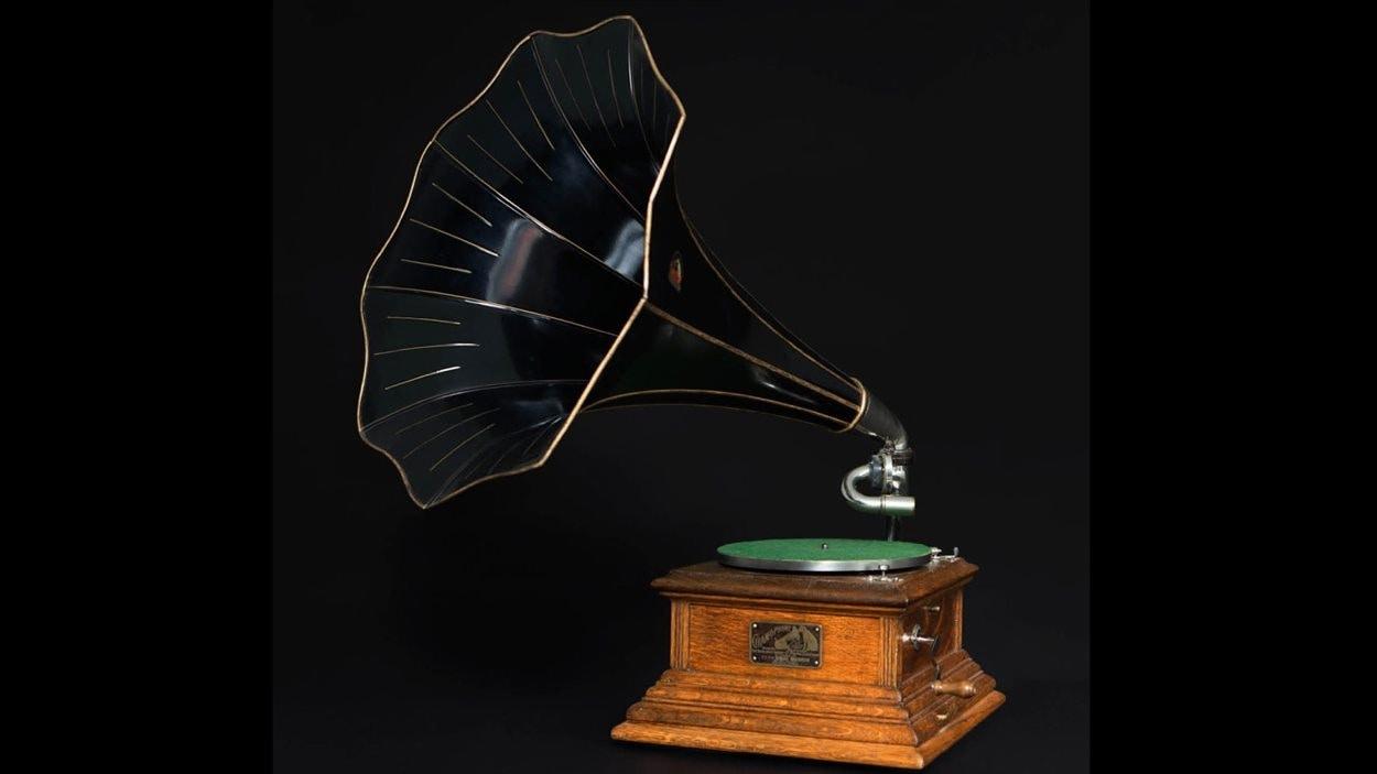 Un gramophone