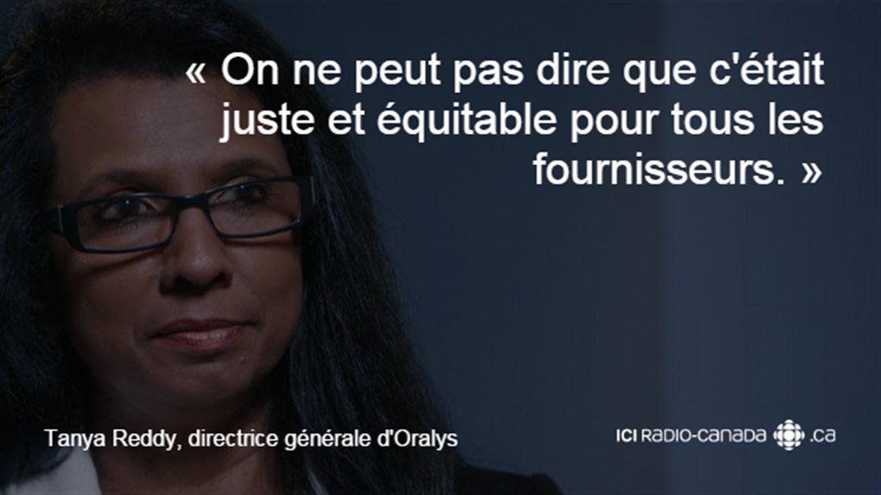 «On ne peut pas dire que c'était juste et équitable pour tous les fournisseurs», souligne Tanya Reddy, directrice général d'Oralys.