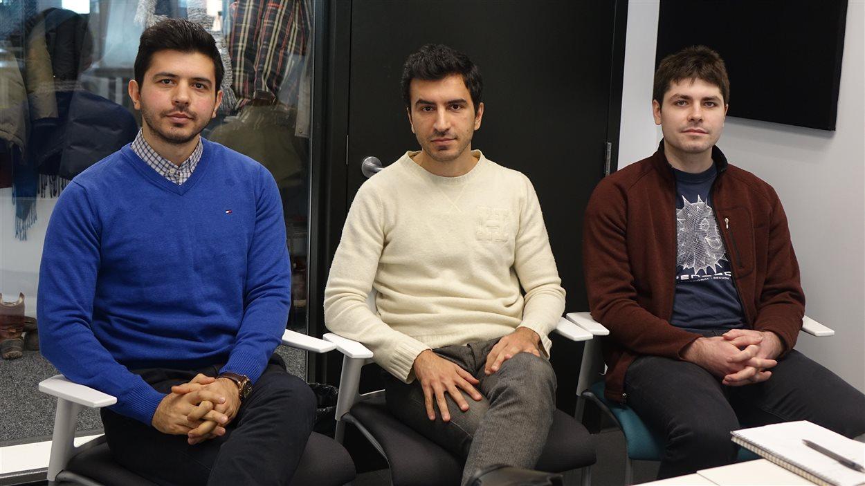 Farshad Mirshafiei, Mehrdad Mirshafiei et Costin Badescu de chez Sensequake.