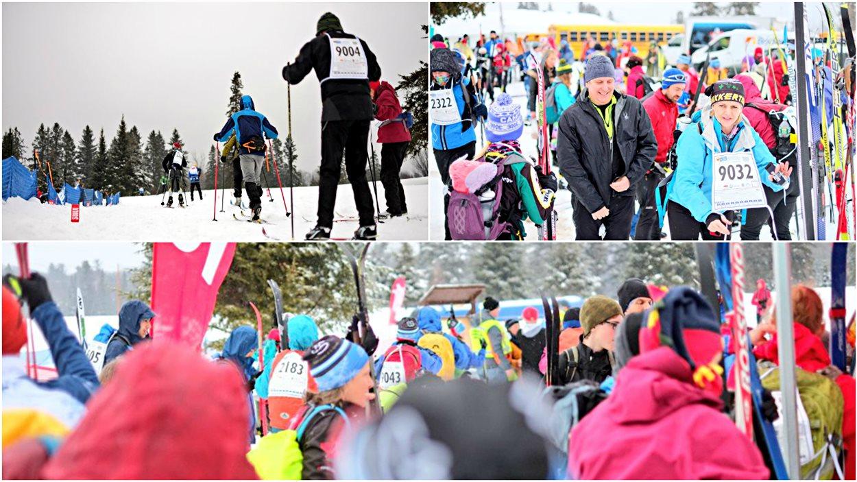 Des participants au 50e Marathon canadien de ski.