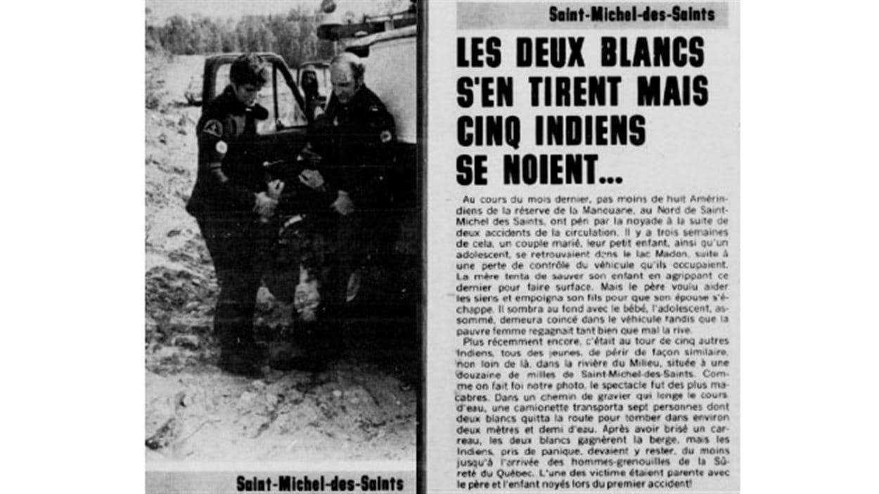 Extrait de «Le Petit Journal», Semaine du 2 au 8 juillet 1977