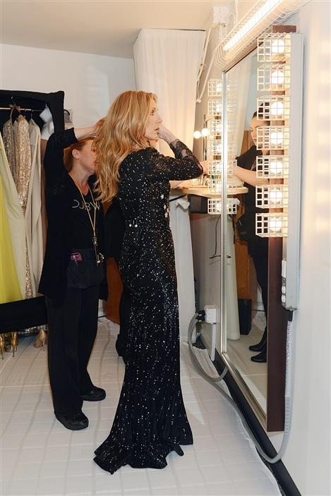 Céline Dion se prépare avant le spectacle