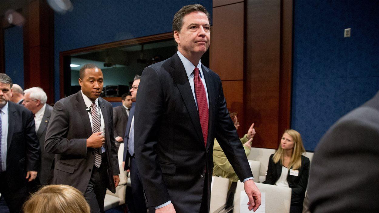 James Comey, le directeur du FBI, après avoir comparu devant une commission de la Chambre des représentants aux États-Unis