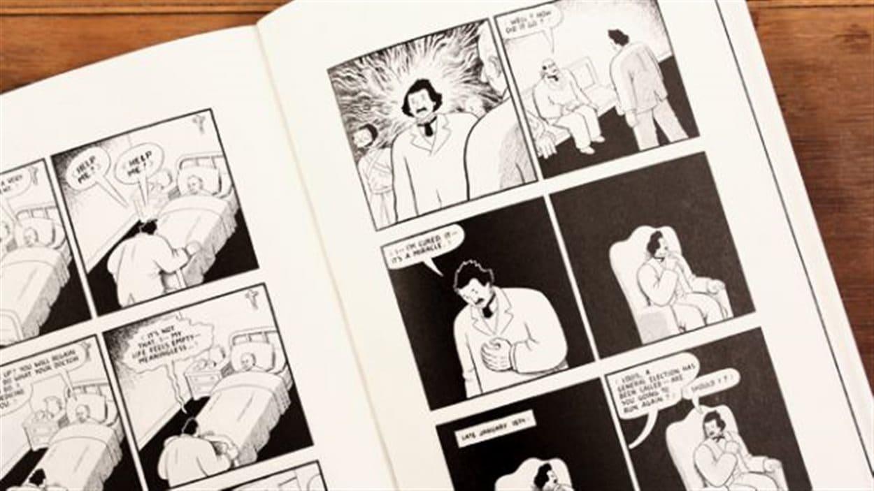 La pièce de Zach Fraser est adaptée du texte et des images de la bande dessinée acclamée «Louis Riel, a comic-strip biography», de Chester Brown, publiée en 2003.